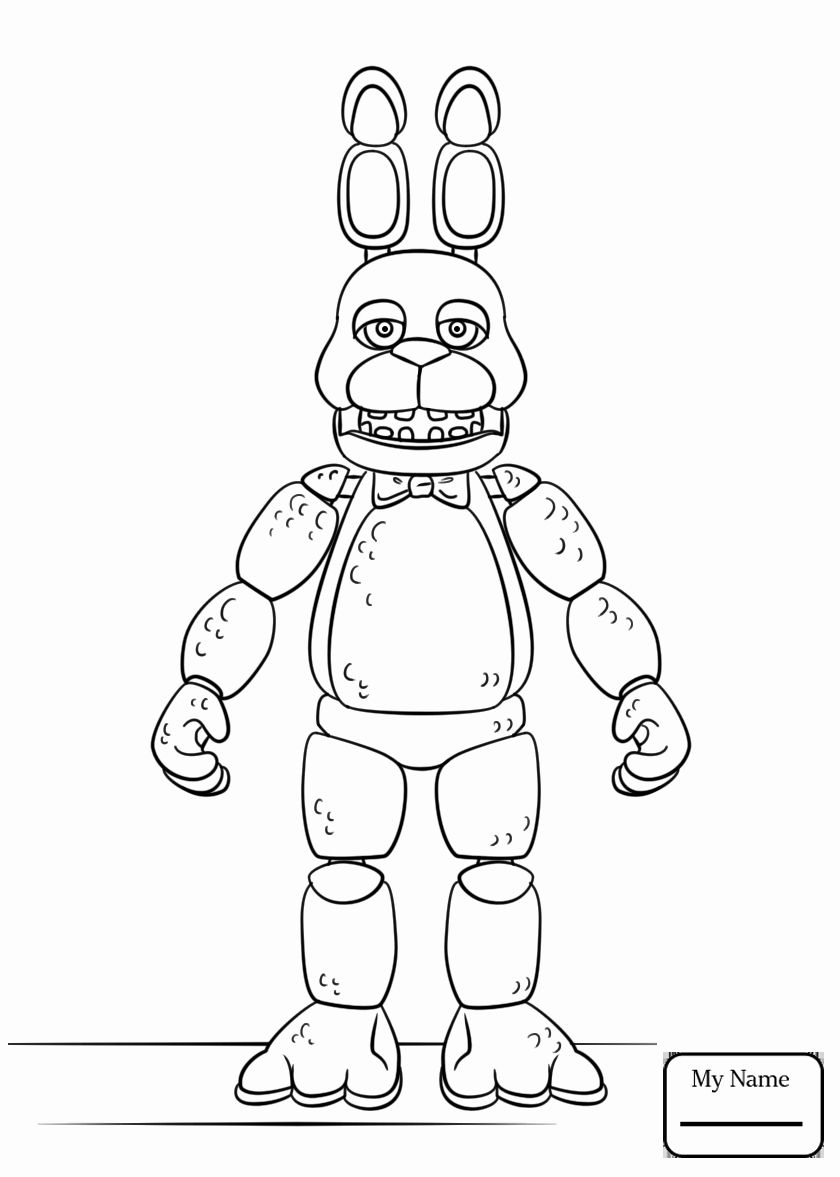 Spring Bonnie Coloring Pages Beautiful Five Nights at ...