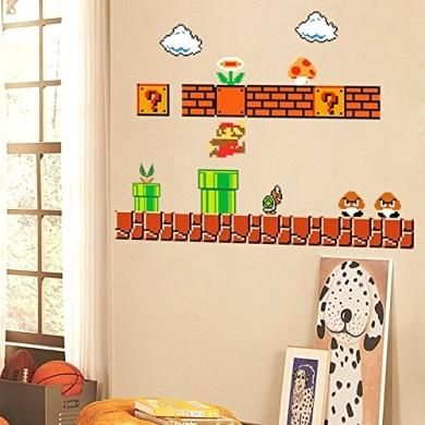 Giant Super Mario Wall Decals Deal Of The Day Http://amzn.to