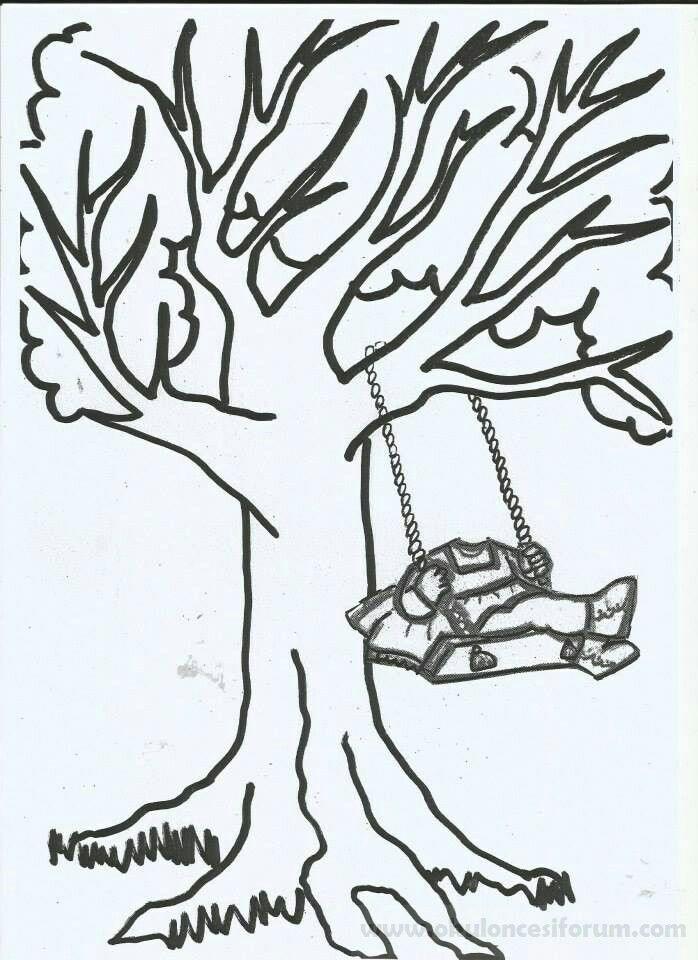 çocuklar Için Mevsimler Ilkbahar Mevsimi Boyama Sayfası 43