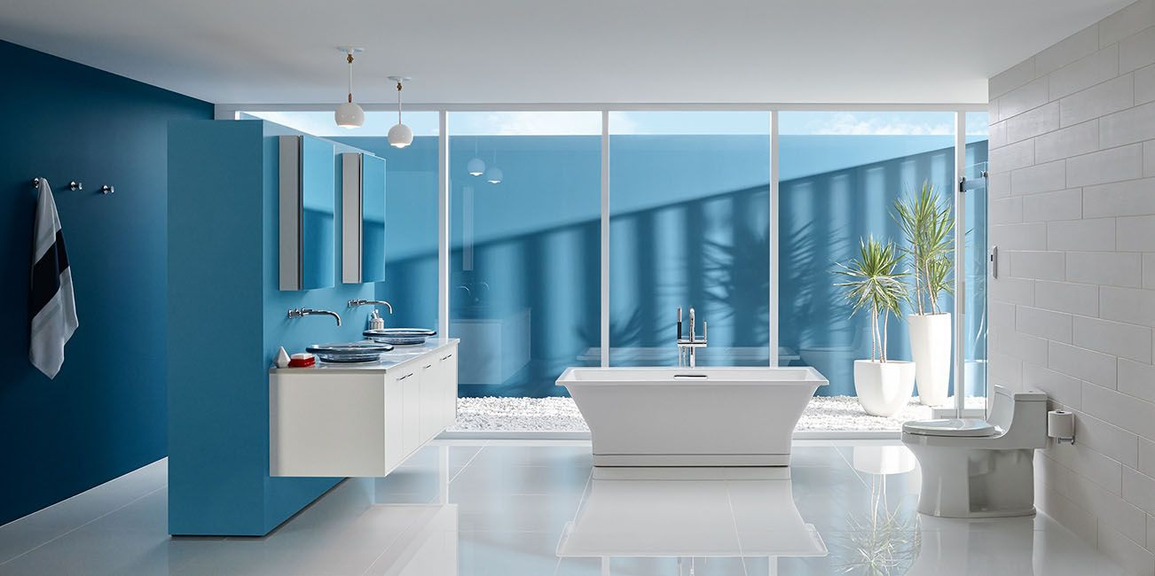 Kitchen and Bath Ideas from Kohler   Large bathtubs, Benjamin moore ...