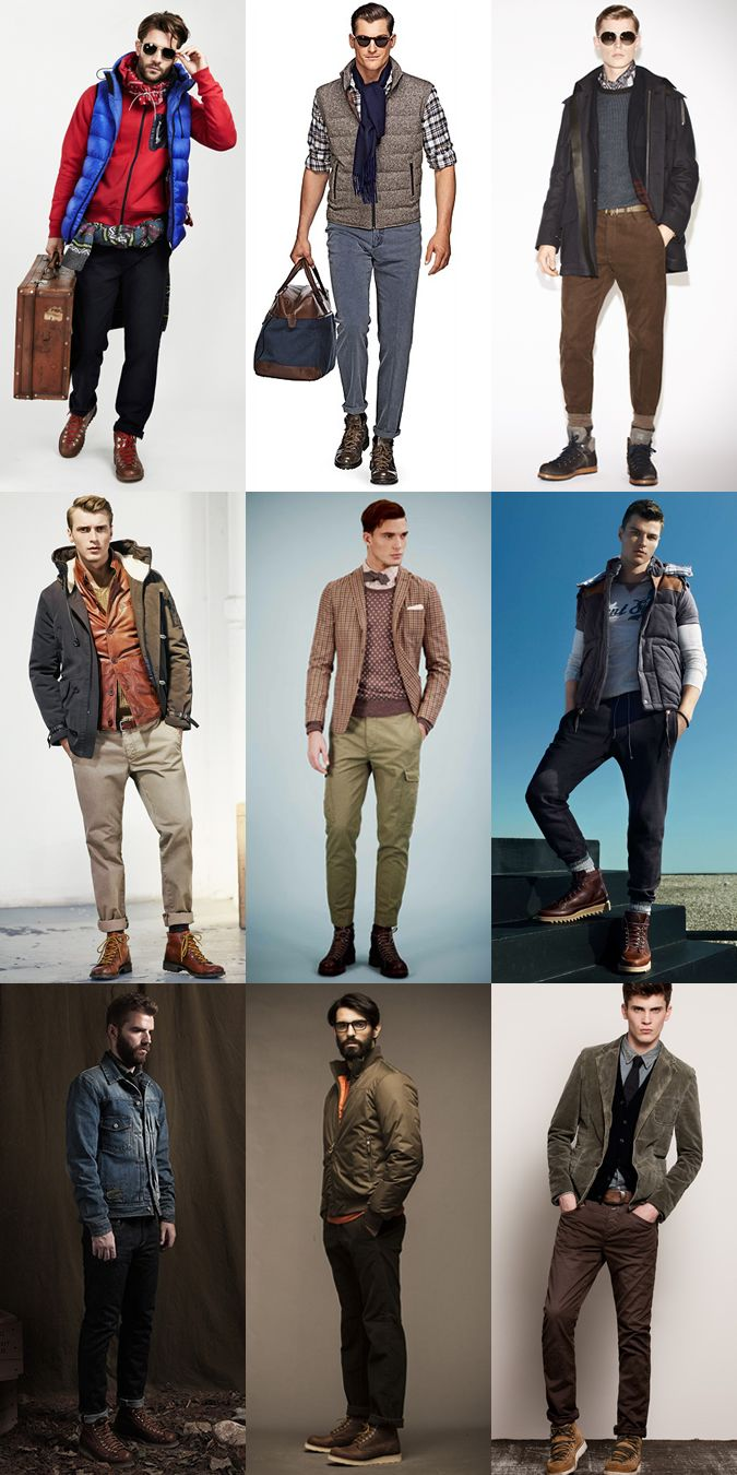 Men's Hiking Boots Outfit Inspiration Lookbook | Style 101 ...