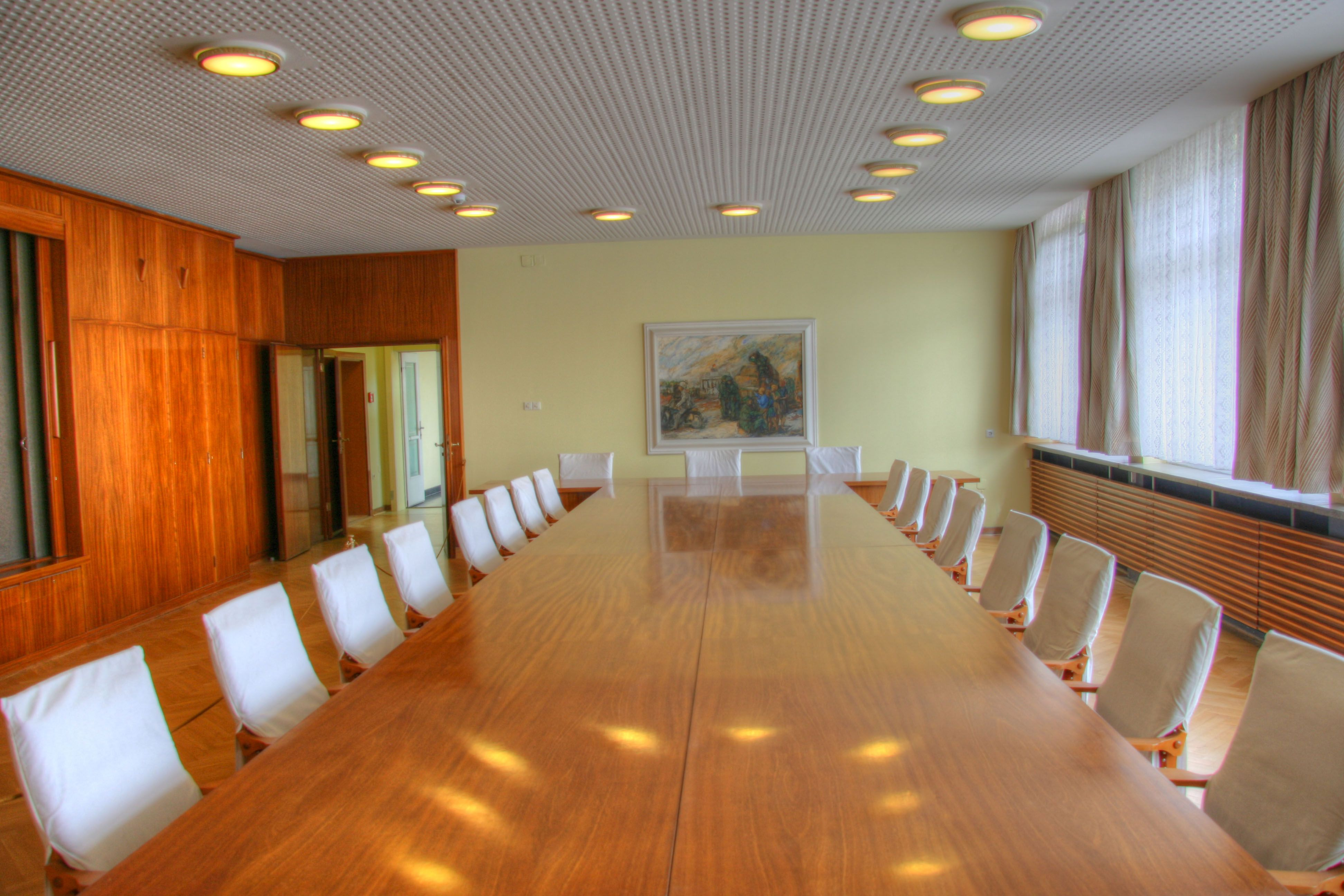 A conference room next to Erich Mielke\'s office in The Stasi Museum ...