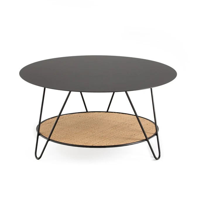 Table Basse Metal Et Cannage Rosali Table Basse Metal Table Basse Table Basse Rotin