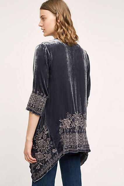 Savannah Velvet Kimono - anthropologie.com