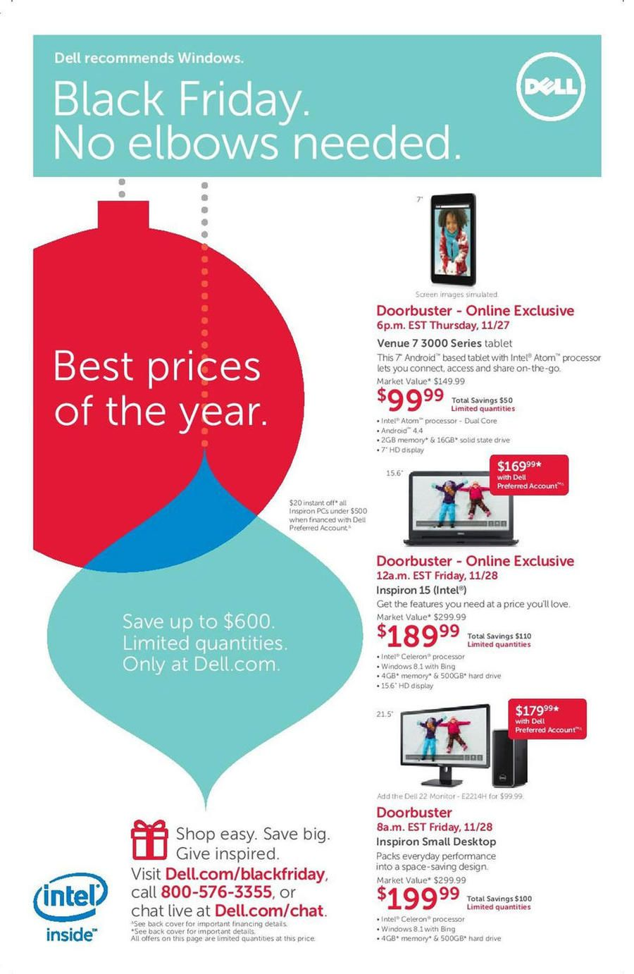 Dell Black Friday Flyer And Ad Scan 2014 Black Friday Ads Black Friday Black Friday Flyer