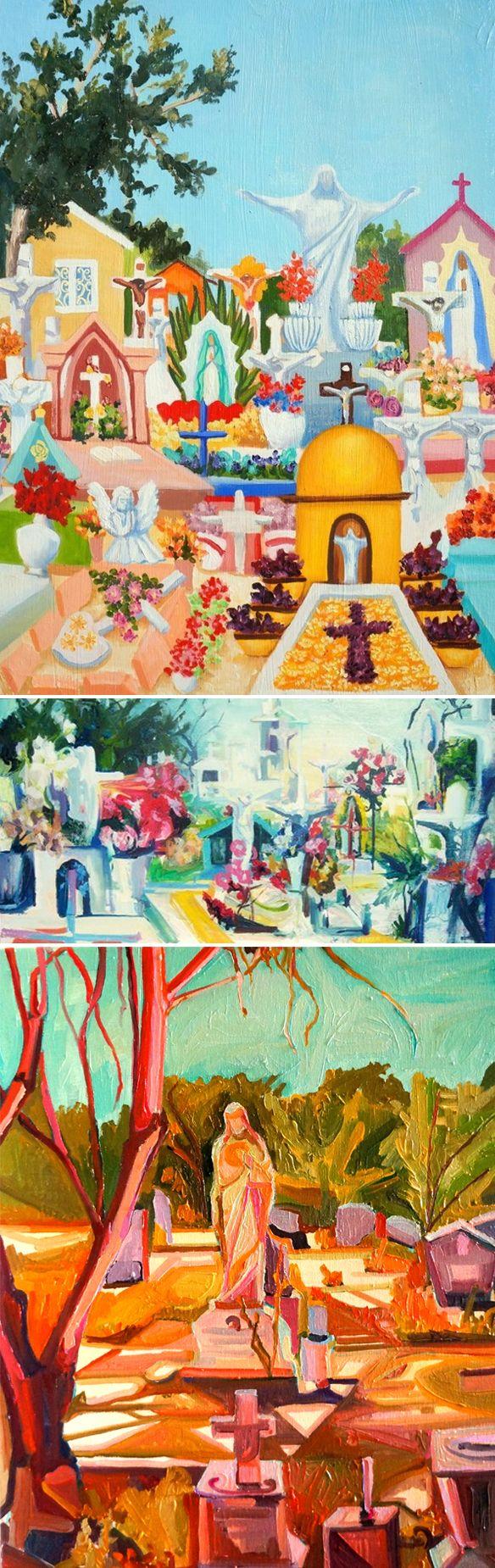 beatriz guzman velasquez - cemetery paintings