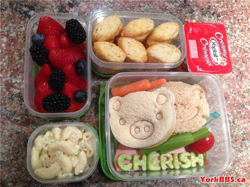 Fun kids school lunch