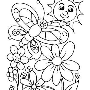 Happy Spring Coloring Pages for Kids preschool crafts Pinterest