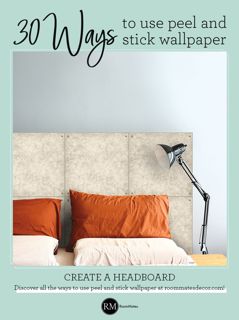 Create A Headboard With Peel And Stick Wallpaper Peel And Stick Wallpaper Faux Headboard Interior Design Games