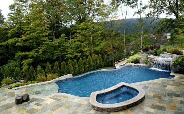 Luxus pool im garten wasserfall  Pin von Petra Stracke-Hausmann auf Pool | Pinterest | Schwimmbecken ...