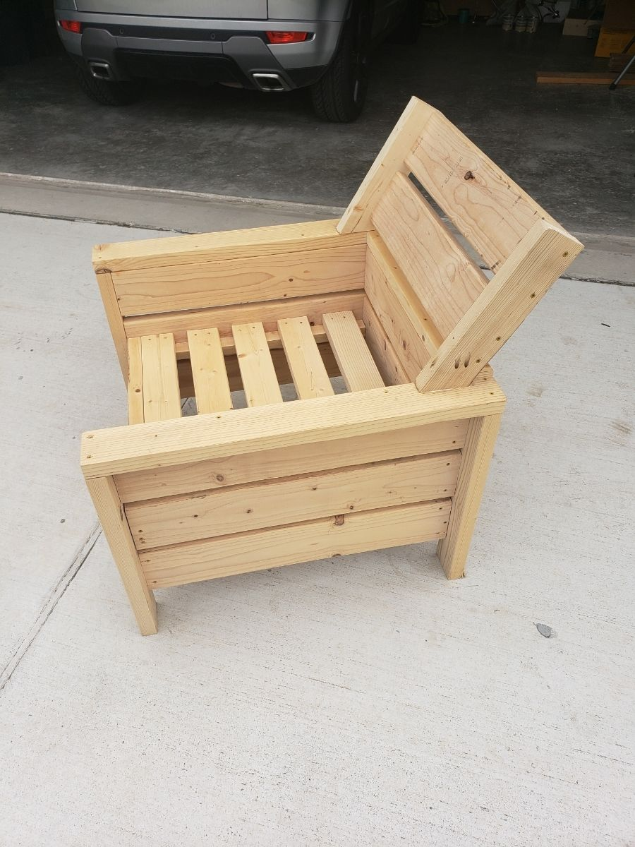 Modern Outdoor 2x4 Chair With Modification Ana White Wood