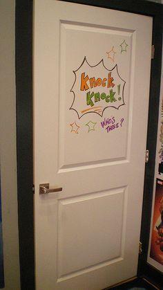 White Board Door