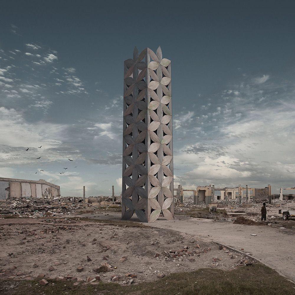 Con / struct: la arquitectura urbana de ficción de Justin Plunkett