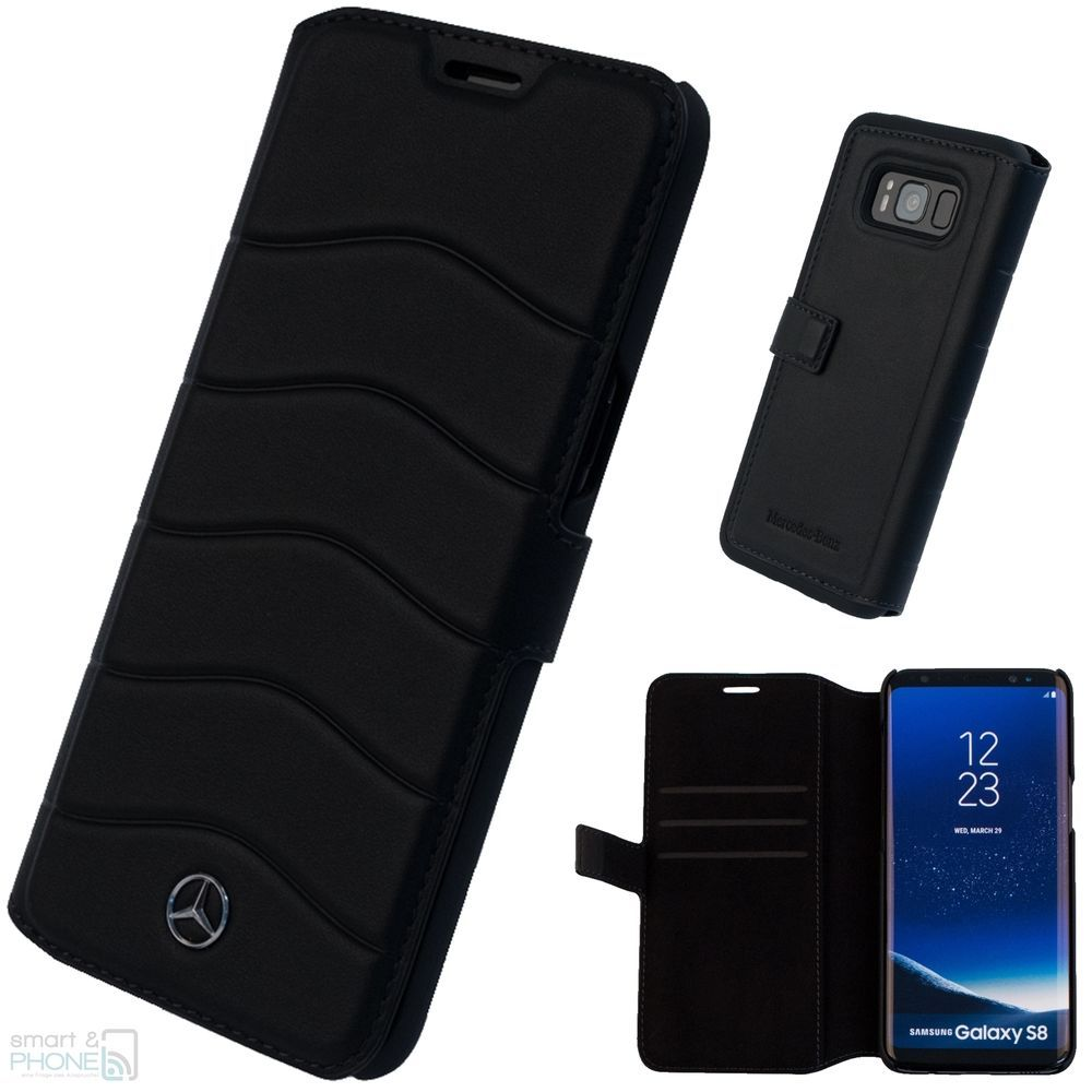 Mercedes Samsung Galaxy S8 5 8 034 Echtleder Handy Book Case Cover Schutzhulle Wave Samsung Smartphone Hulle Schutzhulle