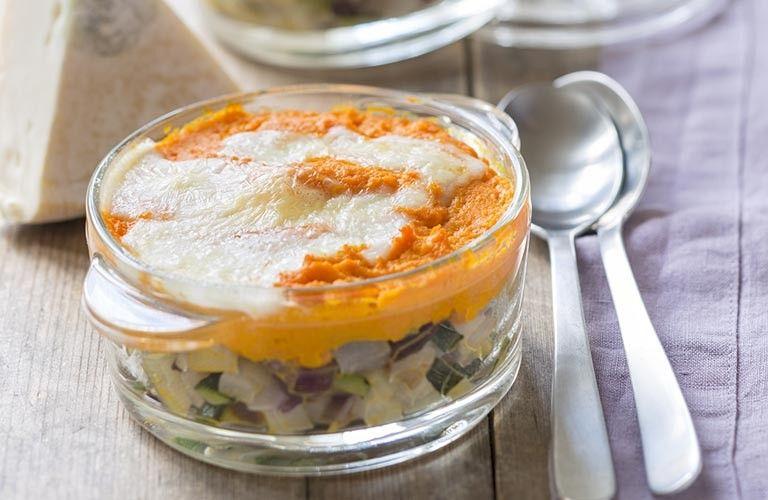 Parmentier Reblochon, légumes en mini cocottes