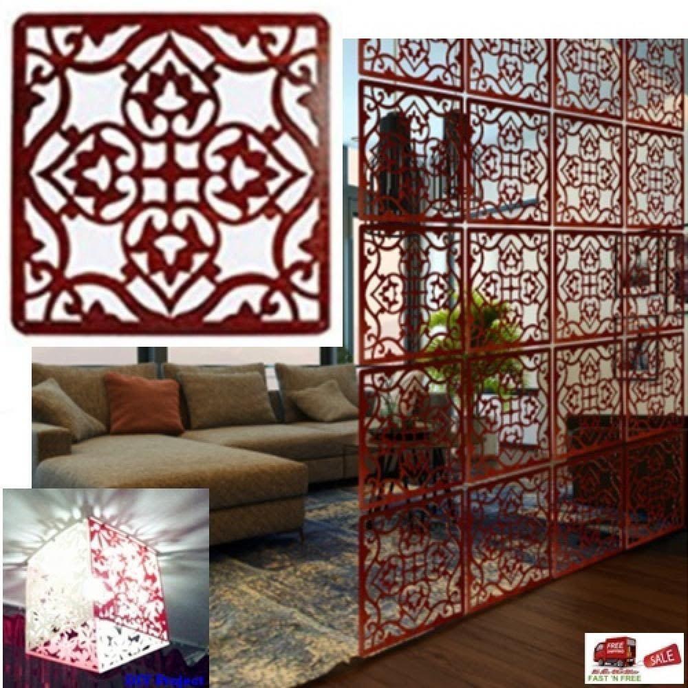 4 Pcs Room Divider Wood Panel Screen Wall Hanging Environmentally Decor Kitchen Lchen Artscraftsmissionstyle