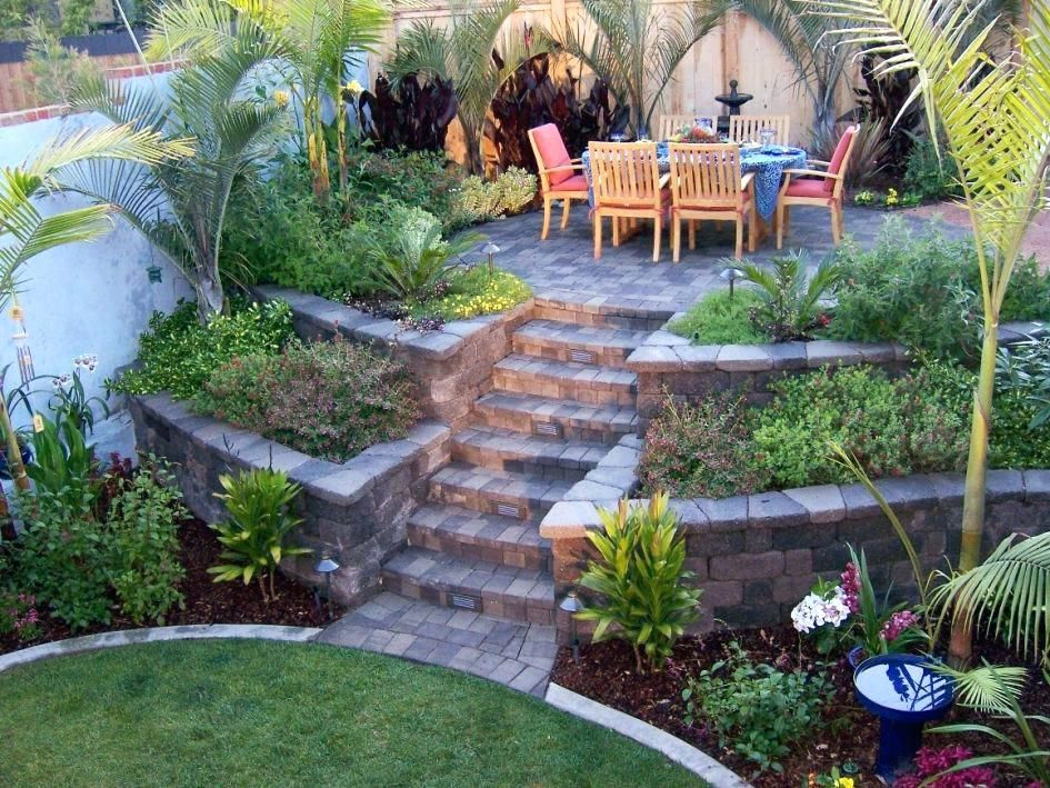 Image result for how to landscape a steep slope on a ... on Small Sloped Backyard Ideas On A Budget id=61495