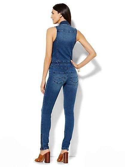 Soho Jeans - Jennifer Hudson Denim Jumpsuit - Southern Blue Wash ...