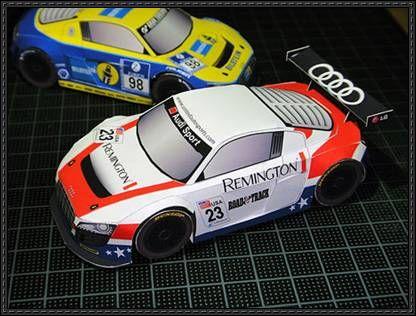 Audi R8 LMS Free Car Paper Model Download