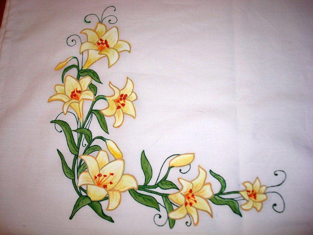 manteles pintados a mano Buscar con Google pintura en tela