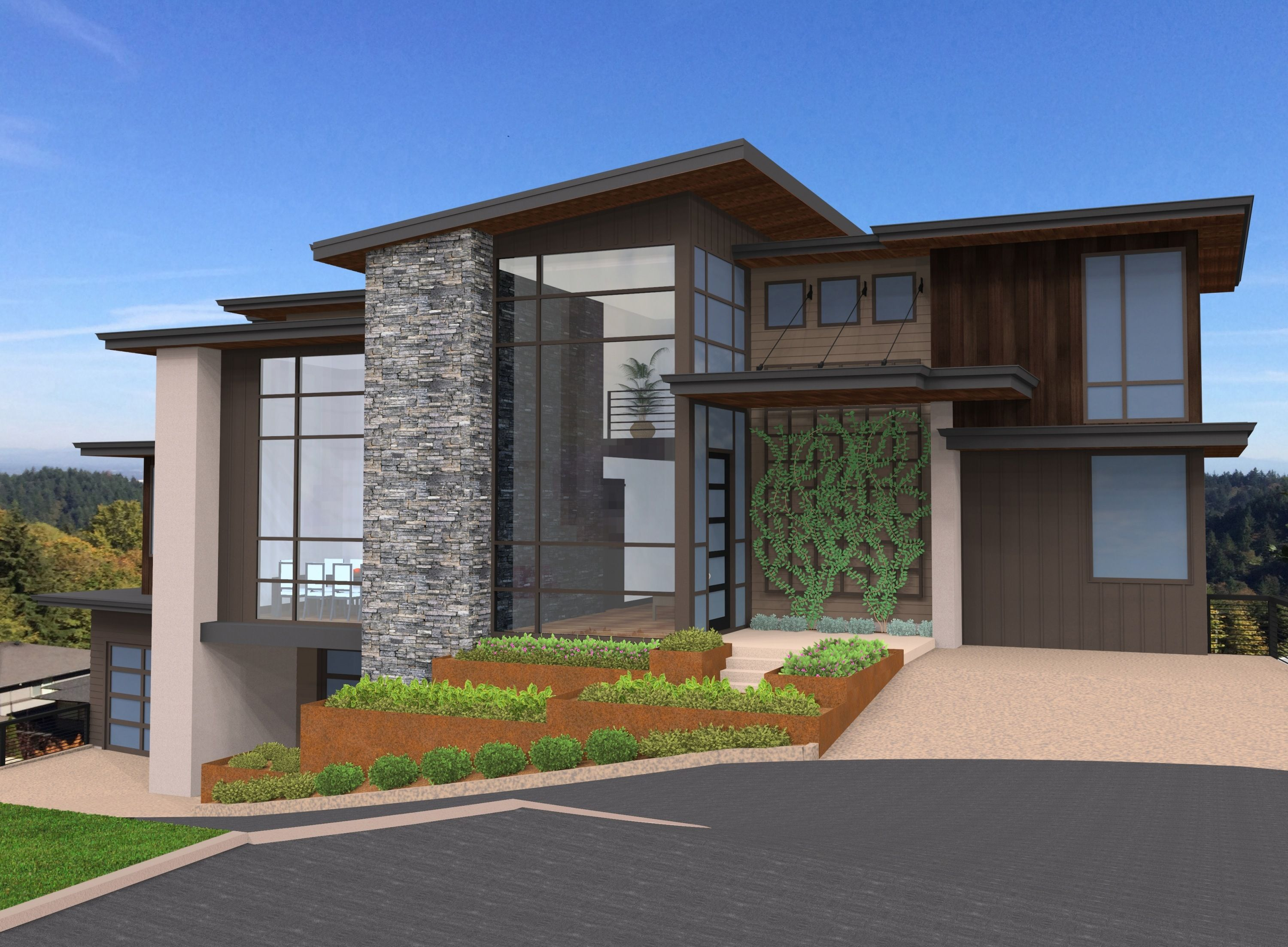 The Ultimate Modern House Plan For A Sloped Lot As Attractive As The Modern Exterior Is Modern Contemporary House Plans Modern House Plan Modern Floor Plans