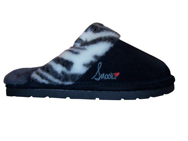356502b9255 Snooki Signature Zebra Sheepskin Scuff Slippers