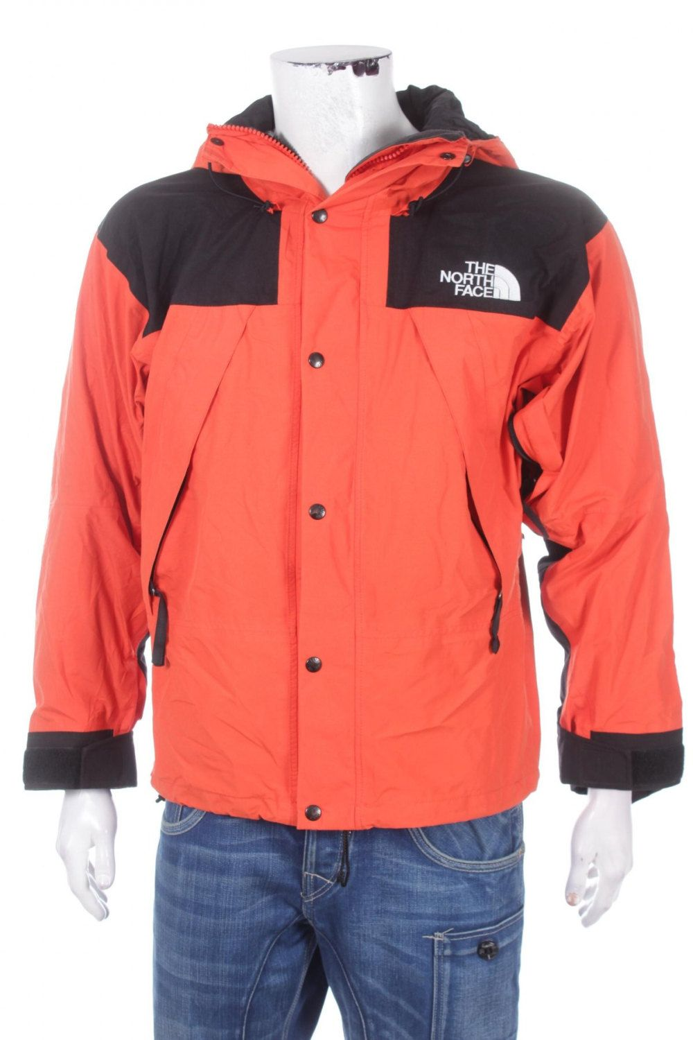 5a9831925 Vintage 90s The North Face Mountain Guide Gore-Tex jacket Orange ...