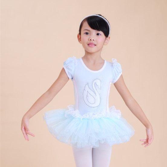 07925f5a3 Children Kids Cotton Sequin Professional Ballet Tutu Gymnastics ...