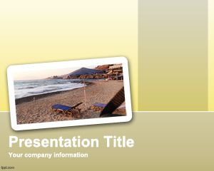 This free vacation trip PowerPoint template is a travel presentation design for travellers or vacation presentations