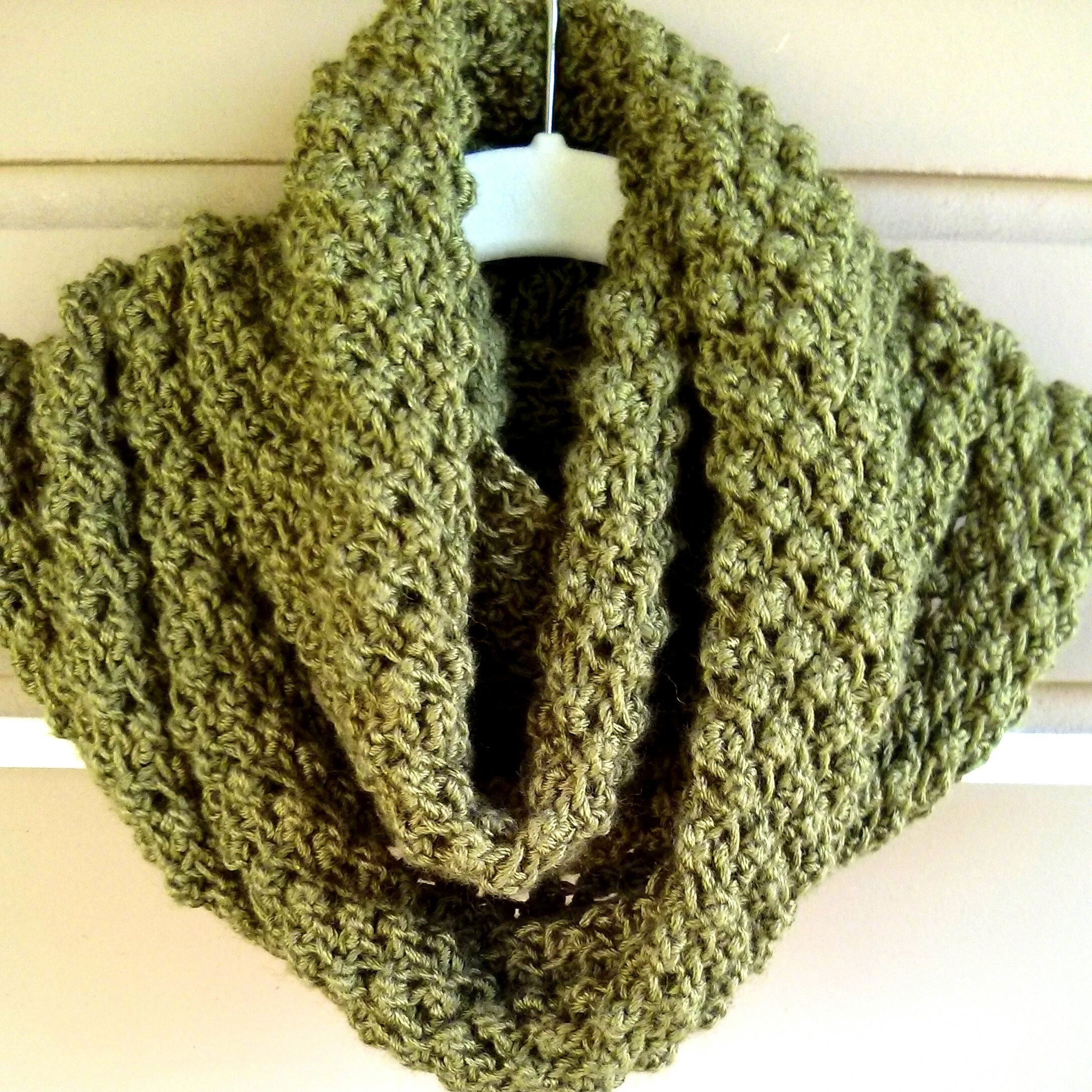 Budding Infinity Scarf is knitted with a sequence of increase and ...