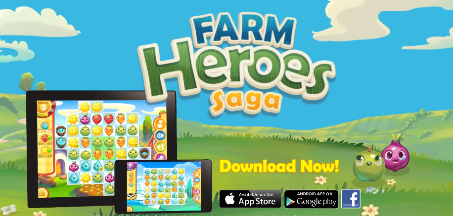 farmheroestv.png (916×438) Farm heroes, Farm hero saga