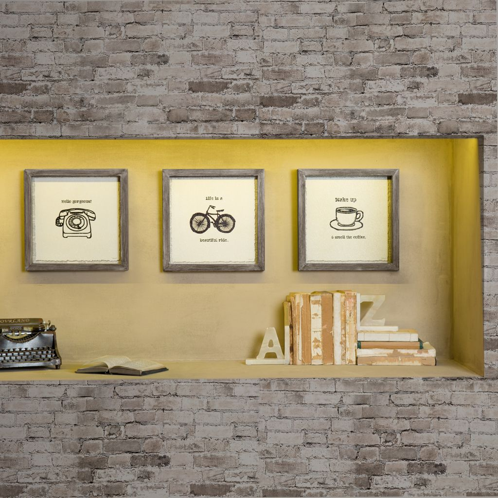 Morning News Framed Gel Coat 3 Piece Set | Designer living, Drift ...