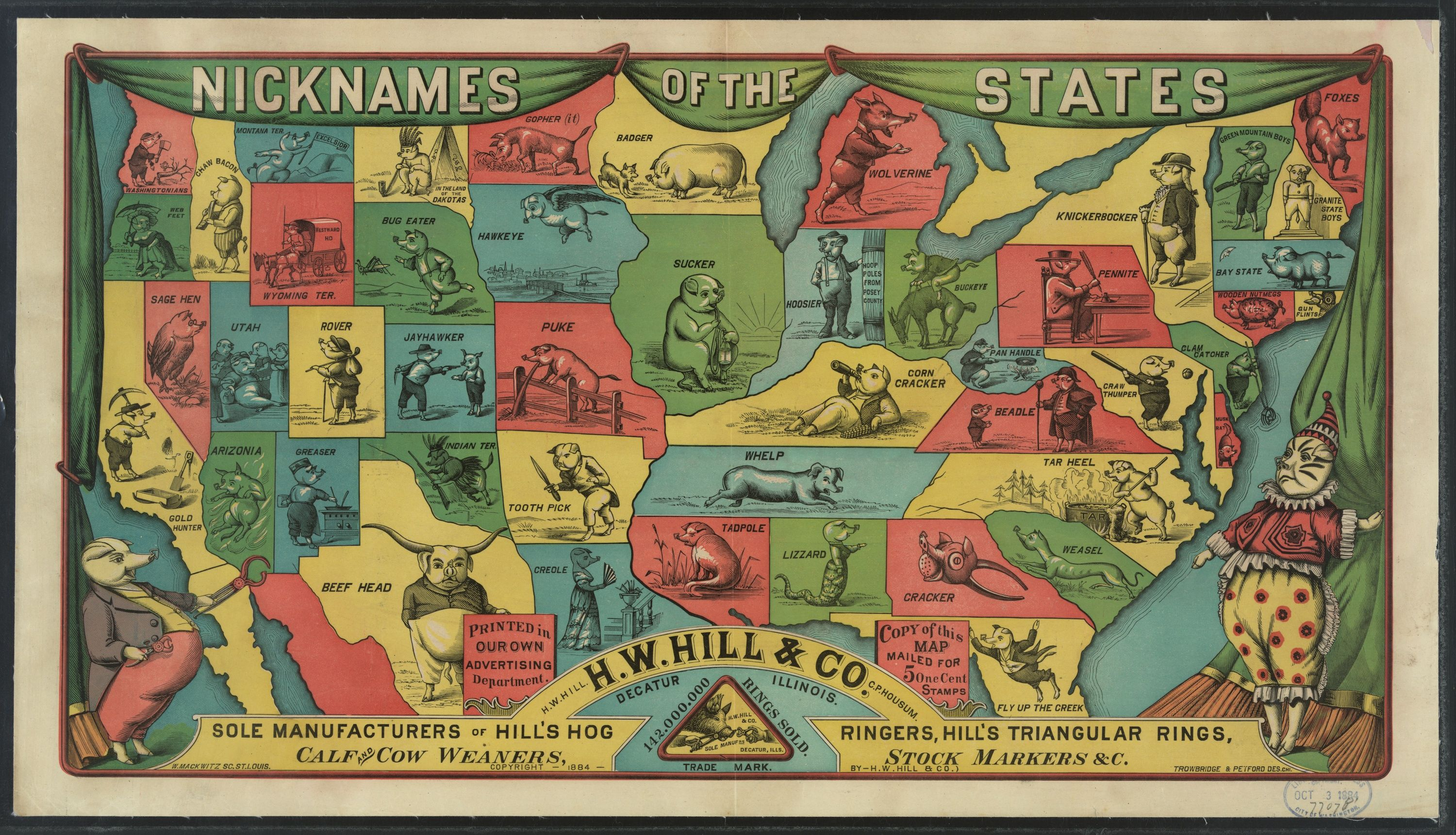 An Odd Map Of American State