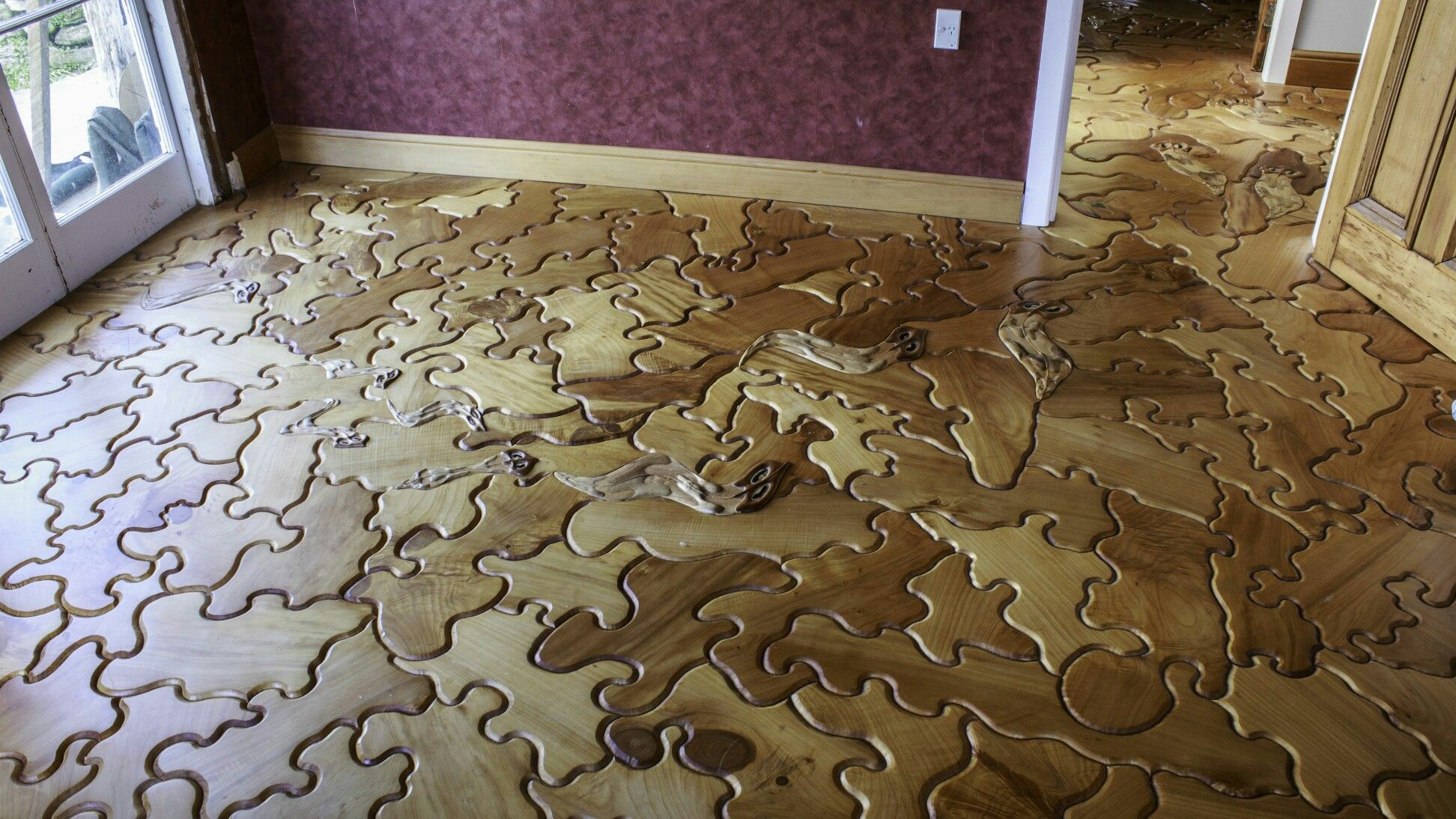 Wood Puzzle Parquet Floor Flooring Diy Shed Kits Modern