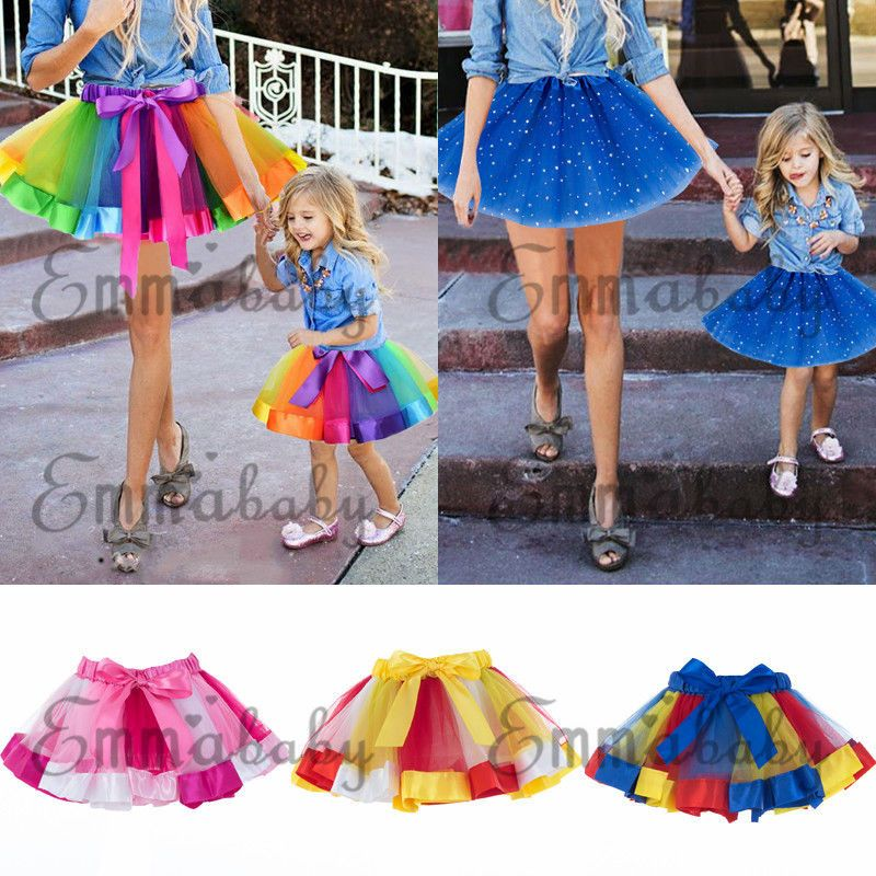 b6591c29e8 Adult Kids Girls Rainbow Tutu Skirt Princess Dressup Costume Ballet  Dancewear US #fashion #clothing #shoes #accessories #womensclothing #skirts  (ebay link)