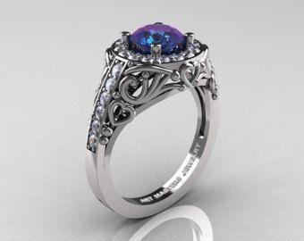 Image result for alexandrite engagement ring Rings Pinterest