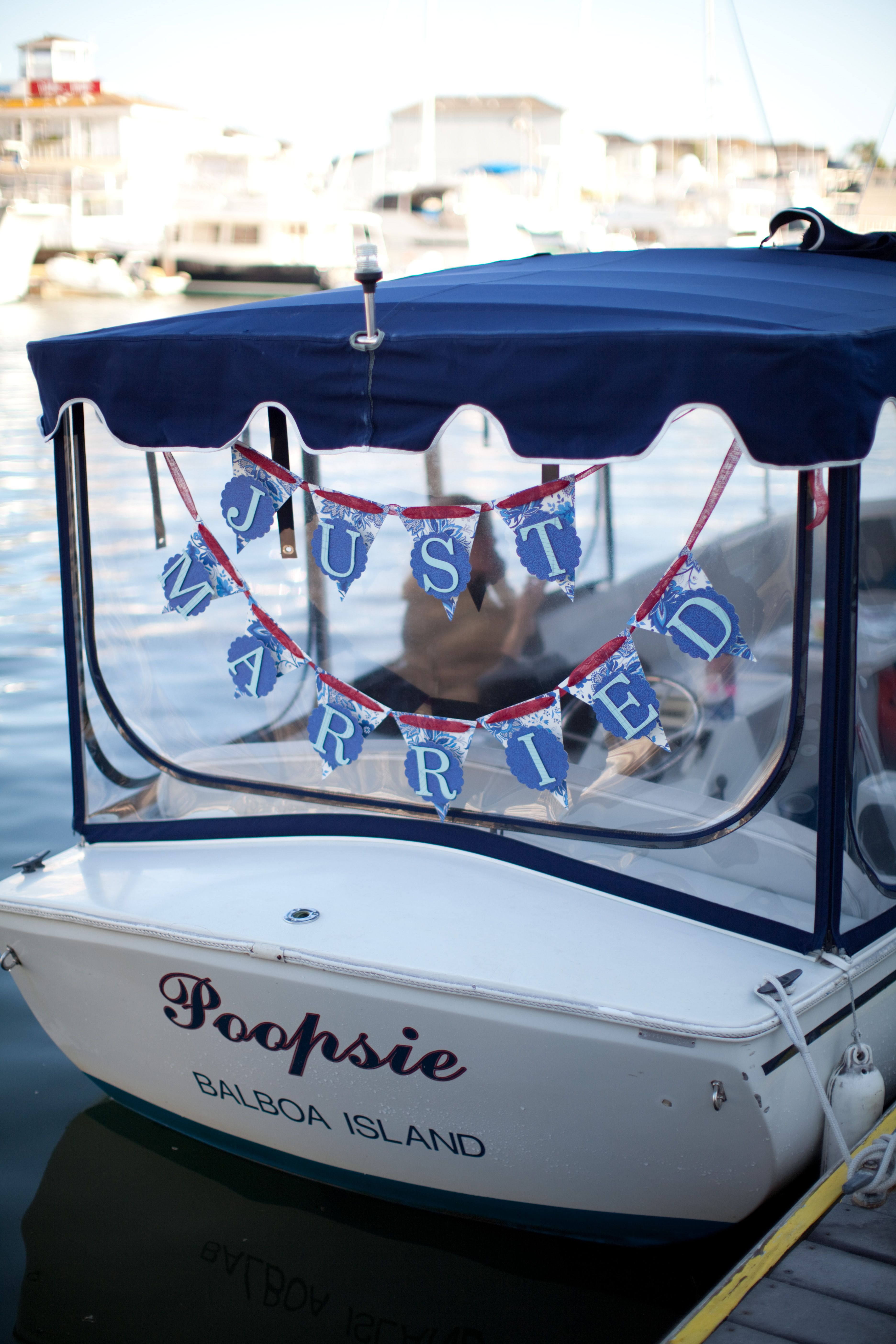 We Left The Wedding In A Duffy Boat Instead Of A Car