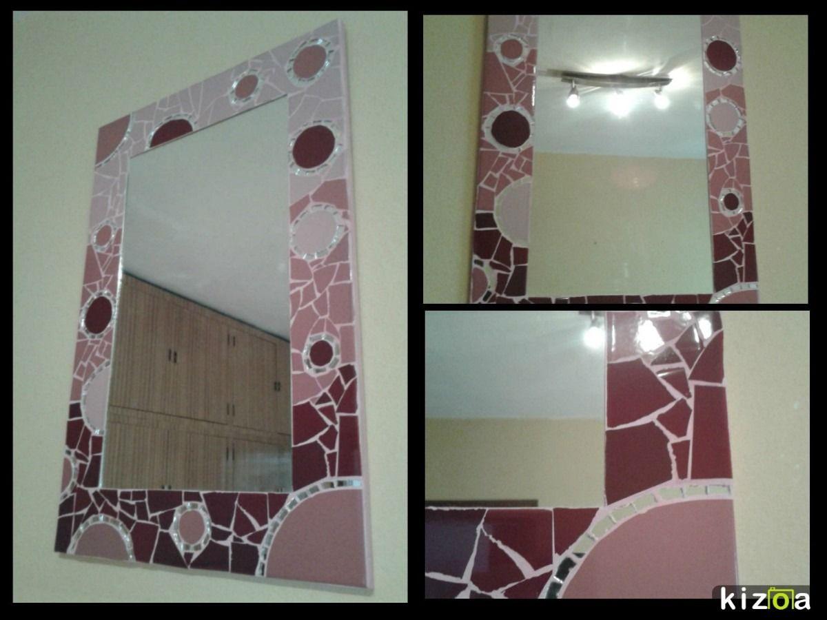 Espejo corazon mosaiquismo y trencadis mosaiquismo Marcos para espejos artesanales