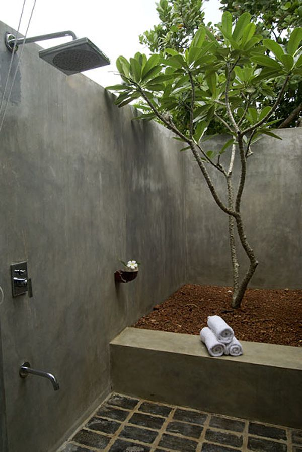 Coconut Beach Villa In Sri Lanka Outdoor Bathtub Outdoor Toilet Outdoor Bathroom Design