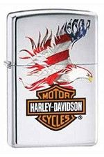 Zippo Lighter HD Eagle Flag - Buylighters.com #lighters #harley