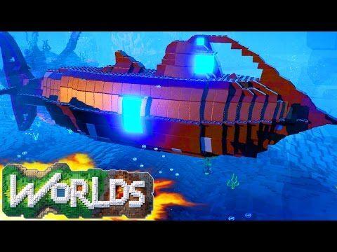 LEGO Worlds - SUBMARINE BASE! LEGO Land Build - LEGO Worlds Underwater (LEGO Worlds Gameplay) - YouTube