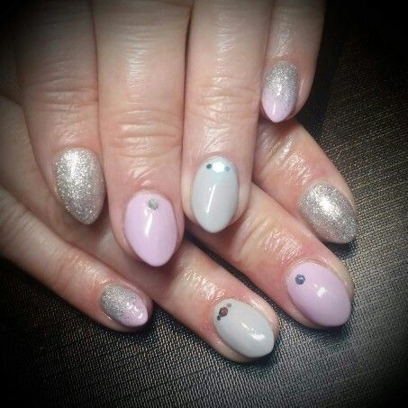 lovely nails done with two of our new spring colours due