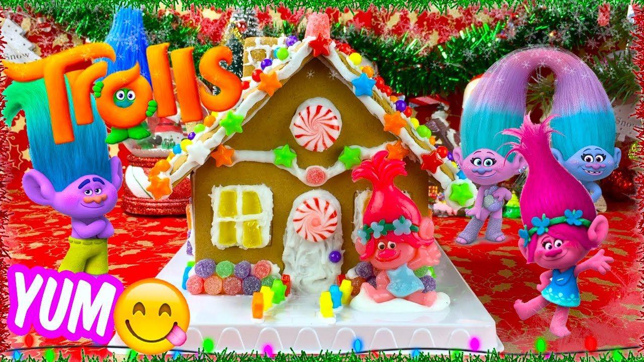TROLLS Movie Poppy's Candy Gingerbread House (With images
