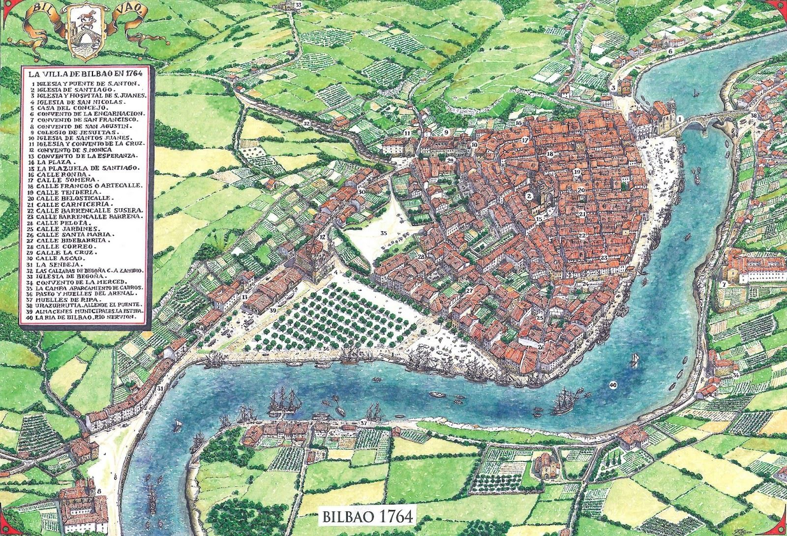 Bilbao In 1764 The Largest City In The Basque Country And The