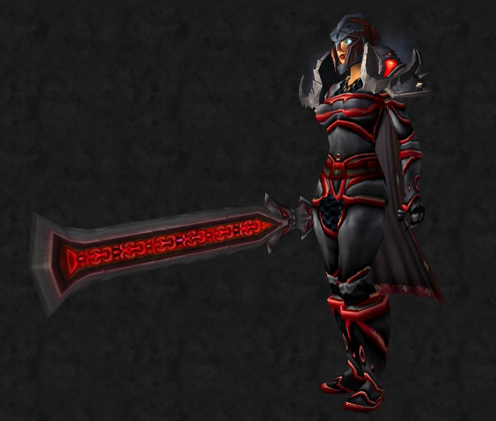Red and black plate set w 2 handed sword & Red and black plate set w 2 handed sword | Ecinsgirlu0027s WOW Transmogs ...