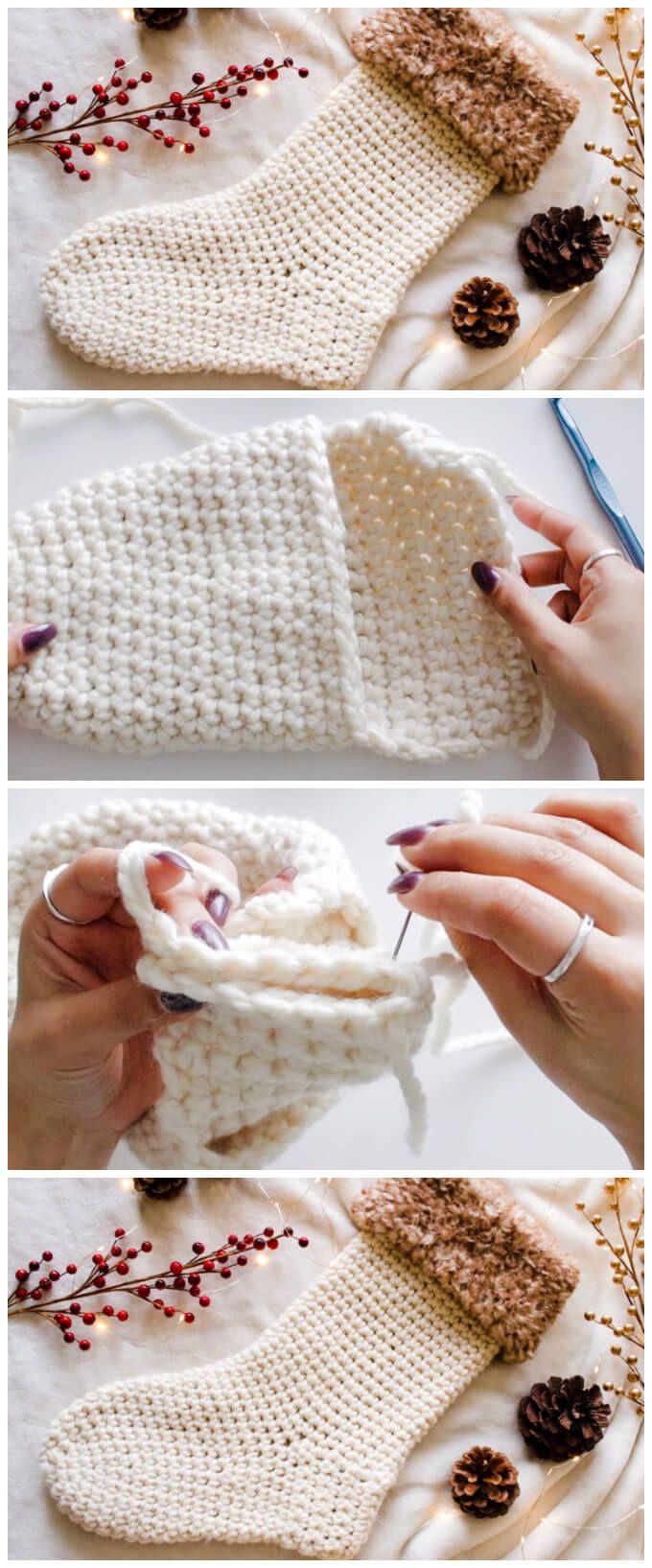 Christmas Socks - Learn to Crochet