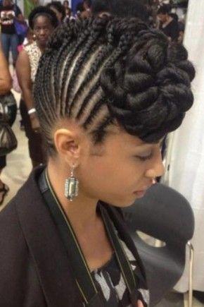 Braided Mohawk Hairstyles Braids Mohawk Hairstyles 2015  V  Pinterest  Black Women