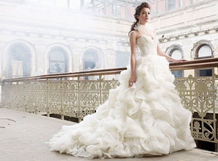 This #wedding #dress definitely makes you look like a #princess gliding down the aisle on your #wedding #day.  For more inspiration visit our website! Prestonbailey.com