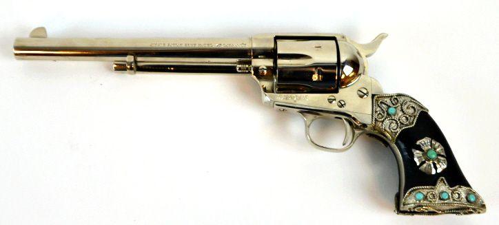 Ubertimitchell Arms 45 Long Colt W Custom Grips Safe