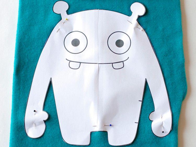 Tutoriel DIY: Coudre un monstre tout doux via DaWanda.com | Boys ...